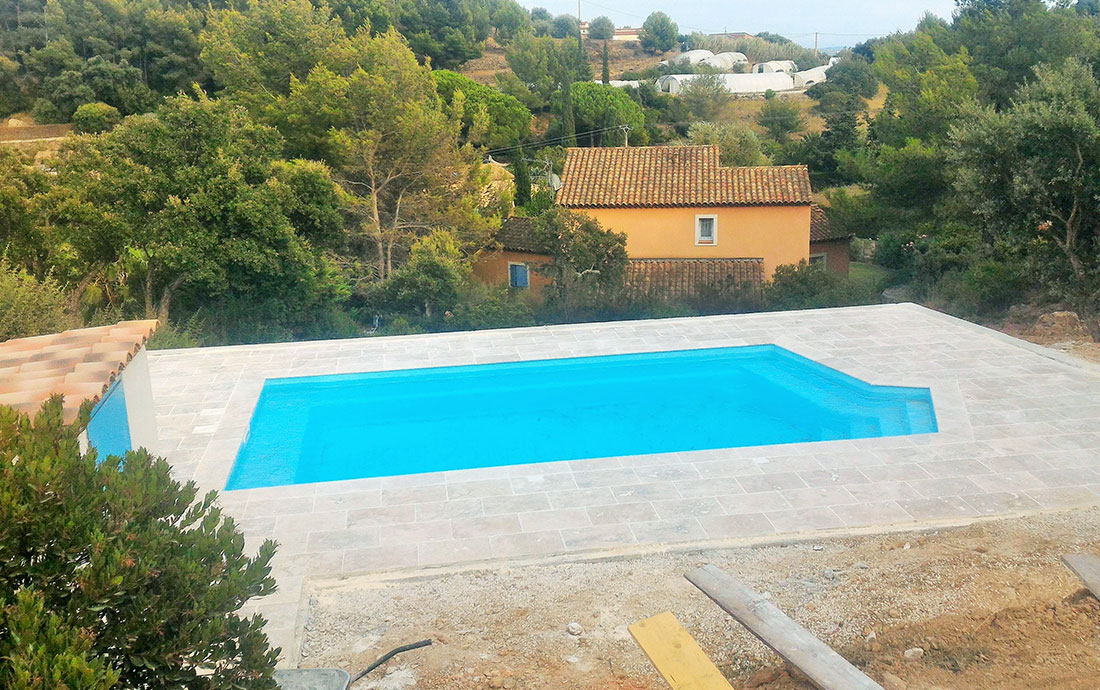 Construction Piscine coque